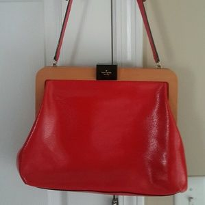 Authentic vintage Coral/Red  Kate Spade Handbag